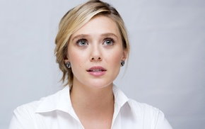 girl, simple background, actress, dyed hair, Elizabeth Olsen, celebrity