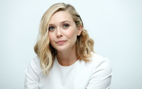 Elizabeth Olsen, girl, celebrity, actress, simple background, dyed hair