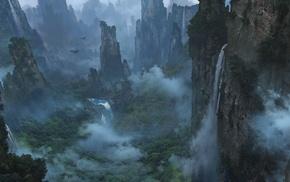landscape, Avatar, valley, fantasy art