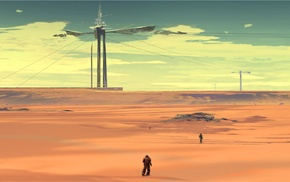 desert, science fiction, landscape