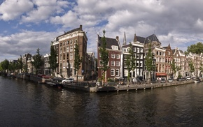 building, cityscape, clouds, city, Amsterdam, Netherlands