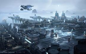 Star Citizen, video games, aircraft, science fiction, futuristic