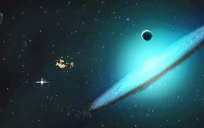 science fiction, space, video games, pixels, indie games, pixel art