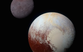Pluto, Charon, space, universe, Solar System, astronomy