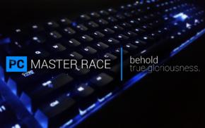 PC gaming, computer, keyboards, Master Race
