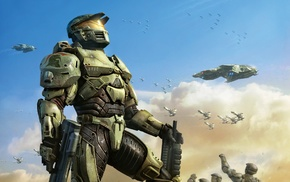 Master Chief, soldier, video games, military, Halo