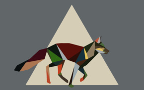 fox, nature, low poly, minimalism, triangle, artwork