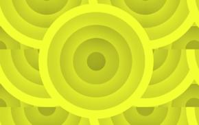 Circles, pattern, yellow, shapes
