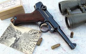 gun, pistol, World War I, Luger P08