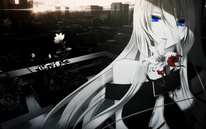 anime, blue eyes, Lily Vocaloid, Vocaloid, anime girls