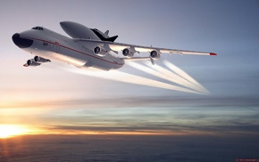 space shuttle, aircraft, Antonov An, 225, 225 Mriya