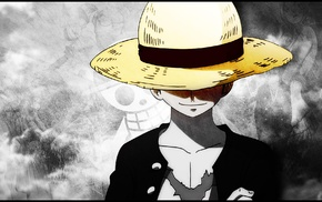 Monkey D. Luffy, Straw Hat Pirates, scars, One Piece, straw hat
