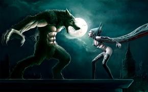 werewolves, fantasy art, moonlight, vampires, artwork