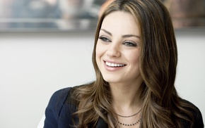 actress, celebrity, smiling, girl, brunette, Mila Kunis