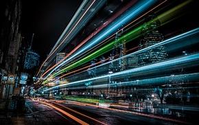 city, street light, England, London, night