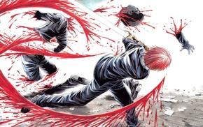 sad, sadness, blood, manga, Tokko, sword