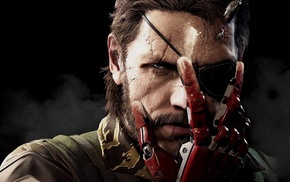concept art, face, Metal Gear Solid V The Phantom Pain, warrior, scars, eye patch
