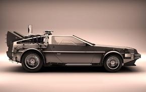 movies, Back to the Future, car, DeLorean