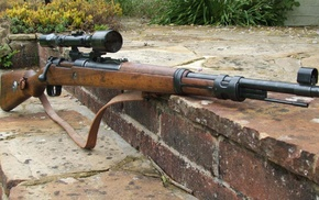 mauser, gun, rifles, Bolt action rifle, Mauser Kar98k