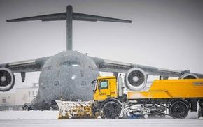 military, snow, US Air Force, Boeing C, 17 Globemaster III