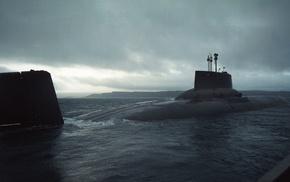 navy, Typhoon class nuclear submarine, military, submarine, Russian Navy