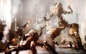 futuristic, science fiction, battle, sketches, artwork