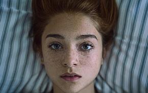 lips, closeup, girl, freckles, redhead, face