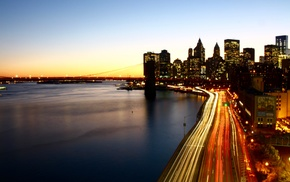 Chinatown, Manhattan, Manhattan Bridge, Lightscape, New York City