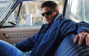 Supernatural, Dean Winchester, Jensen Ackles, car, jeans, TV
