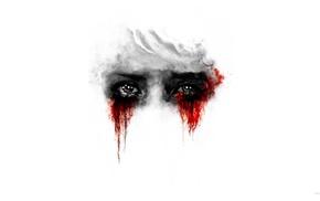 red, blood, eyes