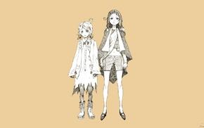 yellow, original characters, sketches, manga
