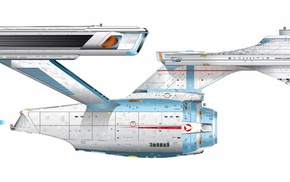 multiple display, Star Trek, USS Enterprise spaceship, simple background