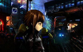 science fiction, train, Lain Iwakura, train station, Serial Experiments Lain