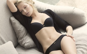 black lingerie, sweater, black panties, panties, lingerie, girl
