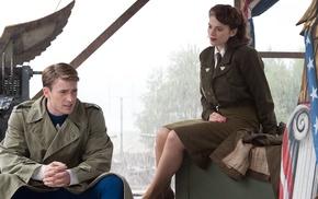 skirt, men, painted nails, Steve Rogers, Captain America, military