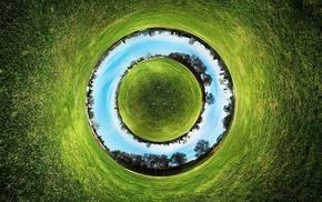 circle, abstract, nature