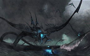 sea monsters, creature, fantasy art