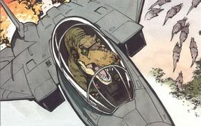 airplane, Tyrannosaurus rex