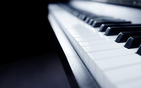 piano, depth of field, musical instrument