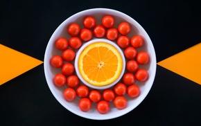 orange fruit, food, minimalism