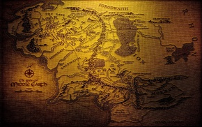 J. R. R. Tolkien, map, Middle, earth