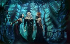 witch, spooky, artwork, Gothic, fantasy art