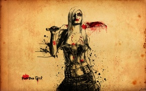 zombies, blood