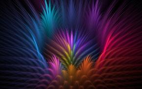 symmetry, CGI, abstract, colorful, digital art