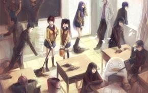 Shimura Tae, Okita Sougo, redhead, anime, Yagyuu Kyuubei, Takasugi Shinsuke