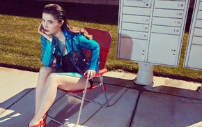 brunette, high heels, girl, Mary Elizabeth Winstead, actress