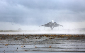 aircraft, AV, 8B Harrier II, military aircraft, mist