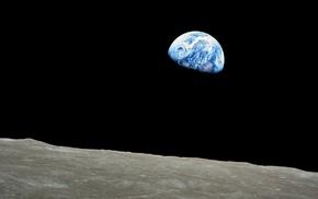 Apollo, moon, Earth, space