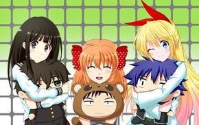 Nisekoi, anime girls, anime, Chitanda Eru, Sakura Chiyo, Hyouka