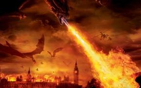 fire, London, dragon